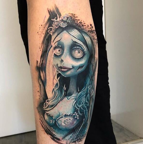 僵尸新娘纹身素材